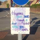 Happiness Often Sneaks In Through The Door,...