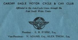 Cardiff Eagles Motor Cycle and Car Club, 1950&...