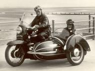 Motor Cycle and Sidecar at National Motor Cycle...