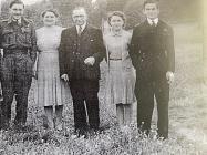 Tony Bird with the Bird family in 1946