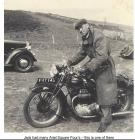 Jack Williams with Square Four Motor Cycle c...