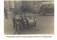 Jack Williams on his motor cycle and sidecar,...
