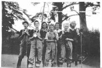 Women's Land Army with Farm Tools