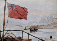 Bangor from Steamer, Menai, Sep 17th, 1887 by...