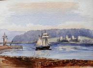 Conway Castle from Deganway, June 1888 by...