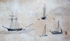 Boats (Brigantine) by Annie Cummings