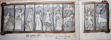 Paintings, Llanelian Church Conwy, Aug 21st,...