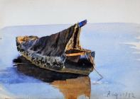 Covered boat, Aug, 1892 by Beatrice Cummings