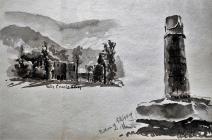 Valley Crucis Abbey / Pillar of Eliseg by...