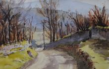 Road as the snow clears by Beatrice Cummings