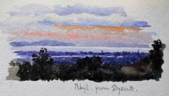 Rhyl from Dyserth by Beatrice Cummings