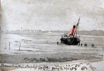 Steamer from Rhyl stranded in fog, July 14th,...