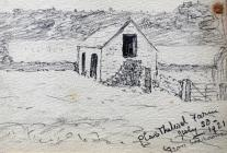 Plas Thelwol Farm from bedroom, July 30th, 1921...