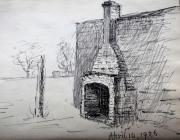 Fireplace, April 14th, 1926 by Beatrice Cummings