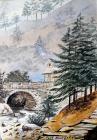 Pont Aberglaslyn gan Annie Cummings