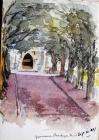 Yew avenue, Llandegai Church, Sep 11th, 1891 by...