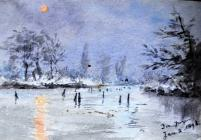 Dee frozen, Jan 2 1893 by Annie Cummings