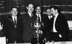 Presentation of championship cup to B. Davies,...