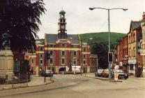 Maesteg Town Hall, also showing Cenotaph.