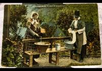 Postcard from 1910 of Welsh Ladies Doing the...