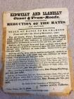 Kidwelly and Llanelly Canal & tramroads charges...