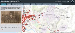 Aberystwyth at War Online Digital Map