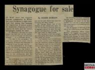 Western Mail extract titled 'Synagogue for Sale...