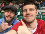 Friends Alex & Aled at the rugby