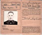 Post World War 2 era Identity Card
