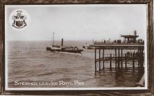 Steamer leaving Rhyl Pier 1912