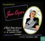 Glass slide advertisement for Jane Cooper women...