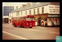 Photograph of bus on Cardiff Street, Aberdare,...