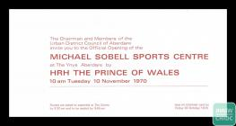Invitation to the opening of the Michael Sobell...