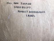 Adelaide Martin: Autograph Book Inside Cover, WW2