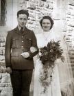 William and Joan Thomas Wedding, 1943