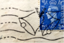 Victory Day postmark and stamp, May 1945