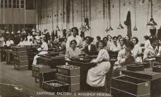 Postcard of WW1 munitions factory, Arsenal