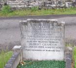 Gravestone of Albert Crandon in Pantyscallog,...