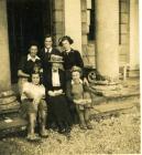 Margaret Powell with Land Army women, Nanteos...