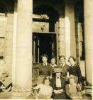 Land Army Women outside Nanteos Mansion