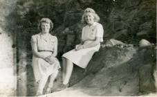 Land Army women in Borth, 1945