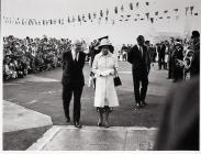 The Queen and Prince Philip Visiting Barry Docks