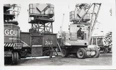 Cranes on Barry Docks