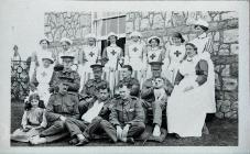 Nurses and Soldiers at Tusker House, Ogmore