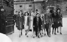 Domino Club Members leaving Buckingham Palace