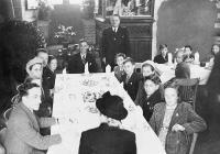 Domino Club Members at a Tea Party