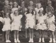 Group of children at Rhayader Carnival, early...
