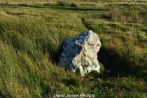 Close up of quartz standing stone, Elan Valley