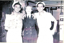 Image of personnel in the galley at Kete Dale...