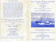 RNLI Programme At Tenby Lifeboat Pembrokeshire